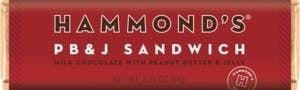 Hammonds Candy Bar | PB & J Sandwich Milk Chocolate