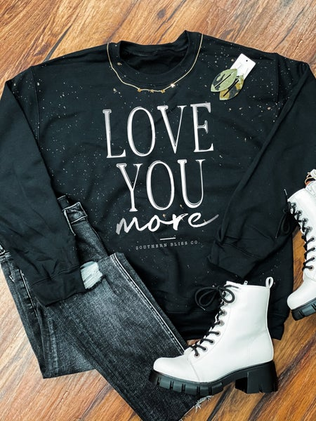 2XL ONLY - Love You More Graphic Sweatshirt