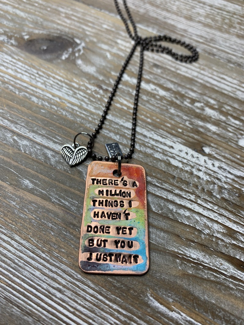 Kate Mesta Hamilton Hand Painted Dog Tags