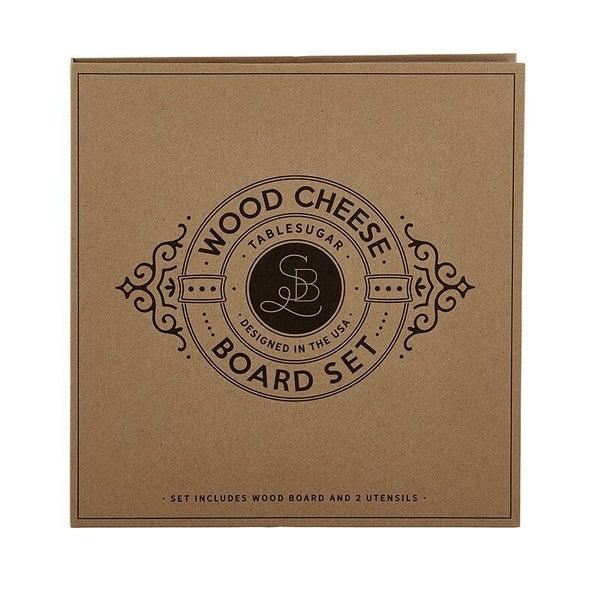 Cardboard Book Set - Wood Cheese Board