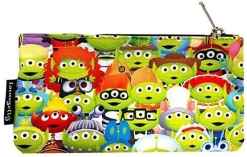!LOUNGEFLY X PIXAR TOY STORY ALIEN OUTFITS AOP NYLON POUCH