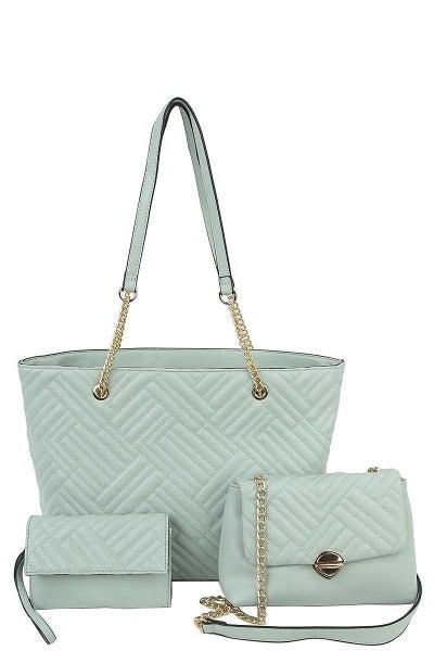 *USE CODE GOTTAGO* Vegan 3 in 1 Handbag With Mini Bag & Clutch ***Multiple Colors