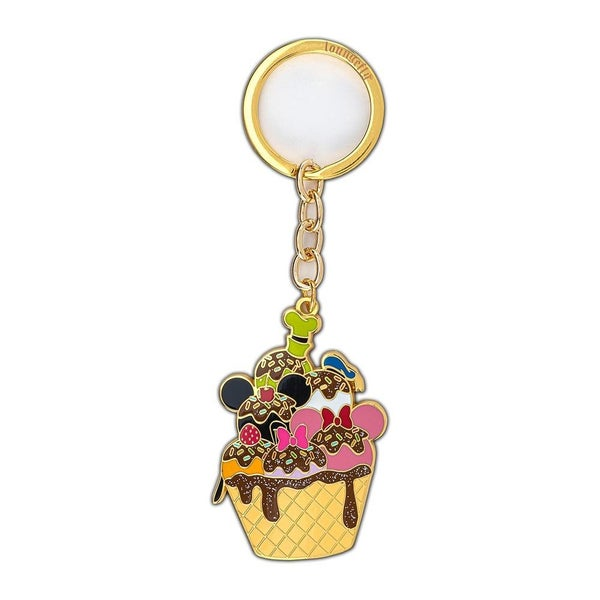 LOUNGEFLY X DISNEY SENSATIONAL 6 ICE CREAM ENAMEL KEYCHAIN
