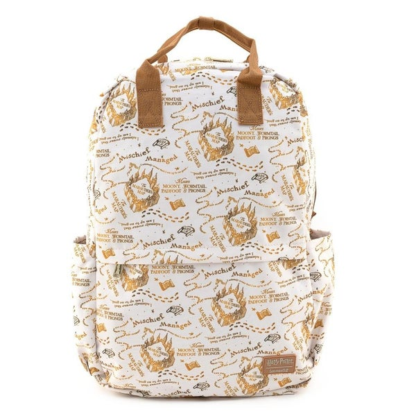 LOUNGEFLY X HARRY POTTER MARAUDERS MAP AOP NYLON BACKPACK
