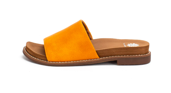 SIZE 6 & 7 ONLY - Yellow Box Kalo -  Marigold Slide Sandals