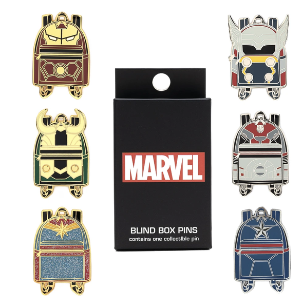 Loungefly Marvel Blind Enamel Pin Box
