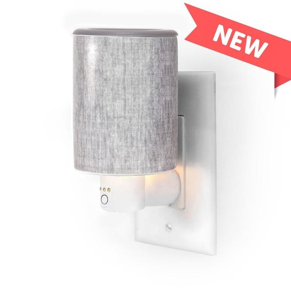 Happy Wax | Timer Outlet Plug-In Wax Warmers - Gray Linen