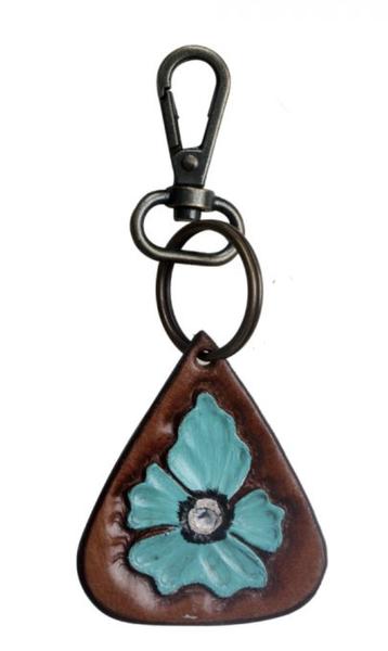 Turquoise Flower Keychain