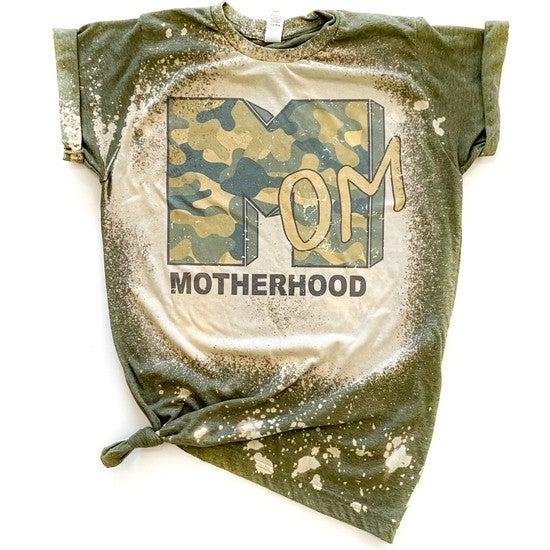 Camo Motherhood Bleached Graphic Tee