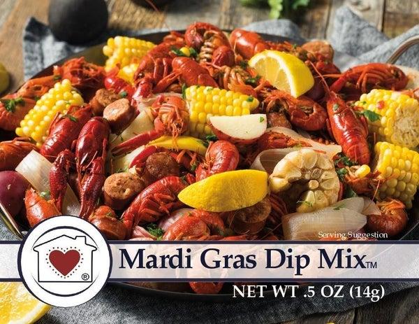 Mini Mardi Gras Dip Mix