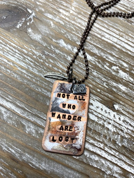 Kate Mesta Not All Who Wander Are Lost Necklace