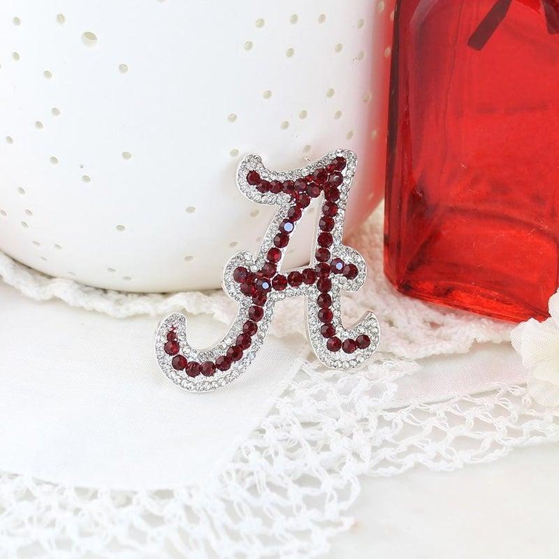Alabama Crystal Logo Pin