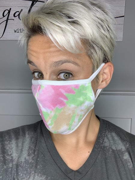 Honeyme Face Covering Tie Dye with Filter Pocket