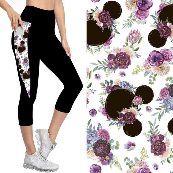 Kids' Capris with Pockets | Flower Mouse