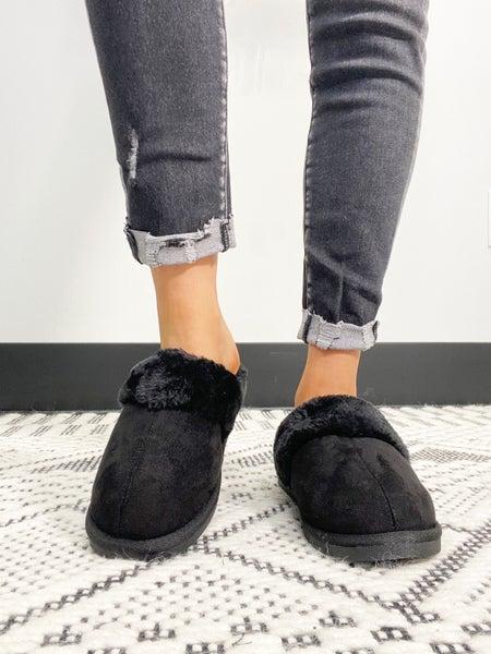 """Corky's """"Snooze"""" Black Slipper Shoe"""