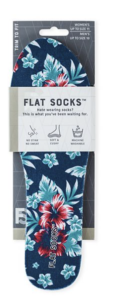 Womens Terry Flat Sock Peacoat