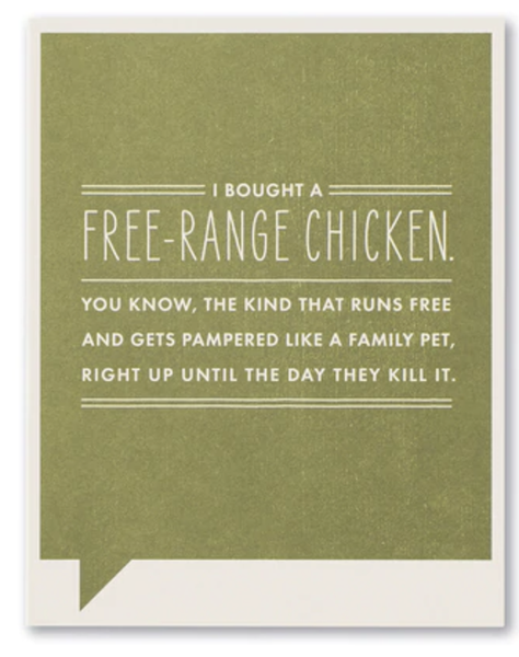 Free-Range Chicken...card