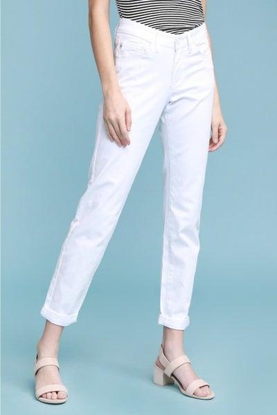 Judy Blue White Boyfriend Jeans