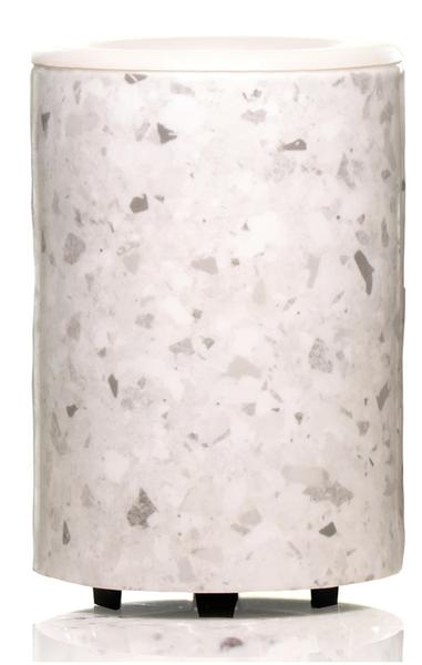 Happy Wax Mod Wax Warmer- White Terrazzo
