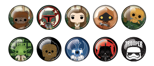 Loungefly Star Wars Buttons