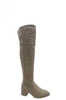 !FASHION STYLE TAUPE HIGH THIGH BOOTS