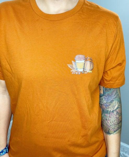 Small Pumpkin Latte Pocket Graphic Tee