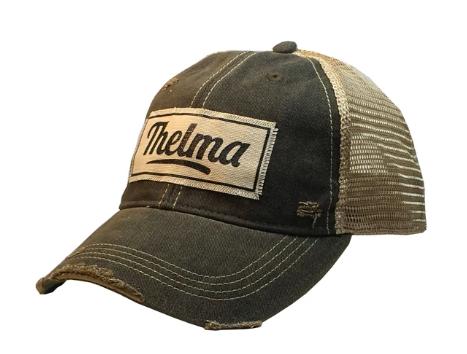 """Thelma"" Distressed Trucker Cap"