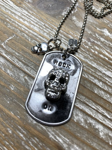 Kate Mesta Black & Silver Collection Rock On Skull