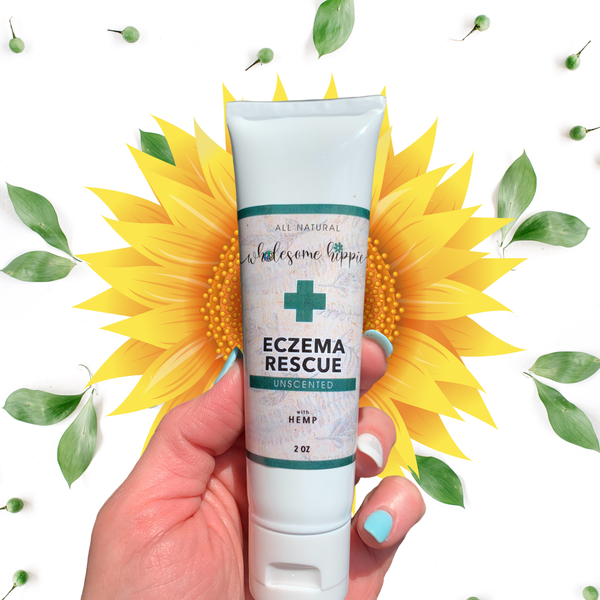 2oz Eczema Rescue + Hemp Herbal Creme- Unscented