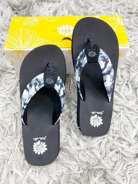 Yellow Box Filomena -  Black Camo Flip Flop