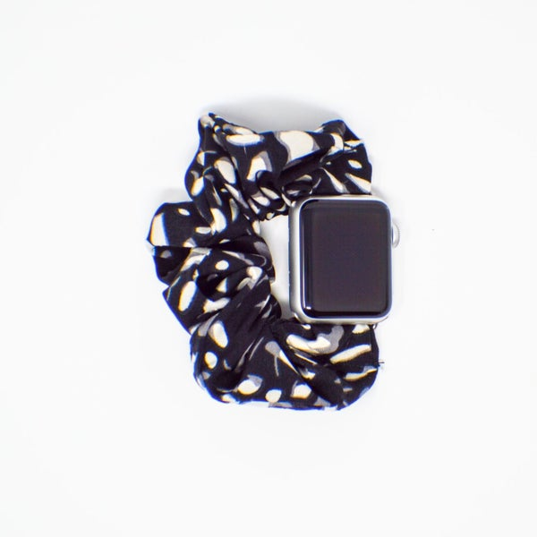 Black Spots Scrunchie Apple Watchband - 38/40mm