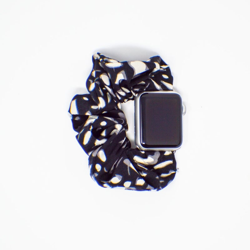 Black Spots Scrunchie Apple Watchband - 38/40mm