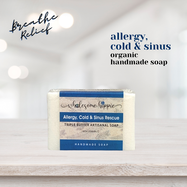 6.6oz Allergy, Cold & Sinus Triple Butter Soap