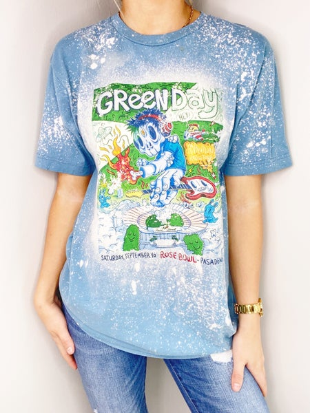 Green Day Bleached Graphic Tee