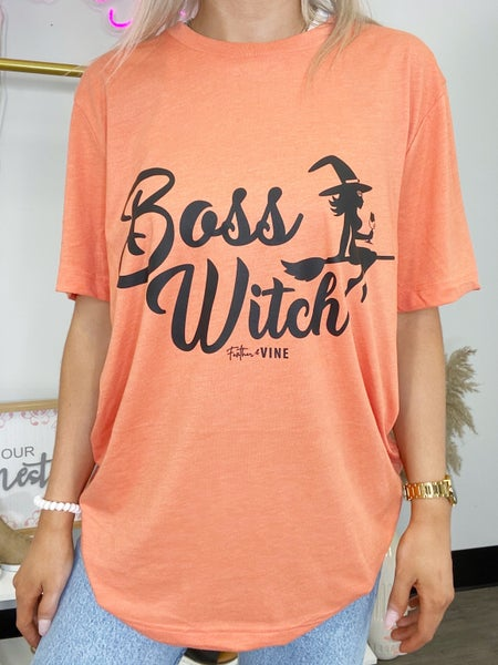 Boss Witch Graphic Tee or Sweatshirt