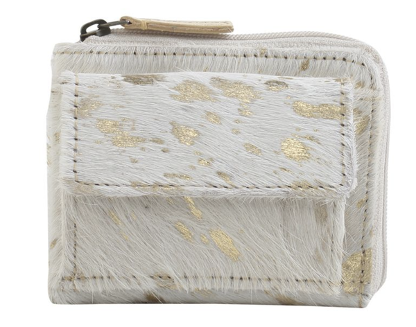 Marble Mystery Leather & Hairon Wallet