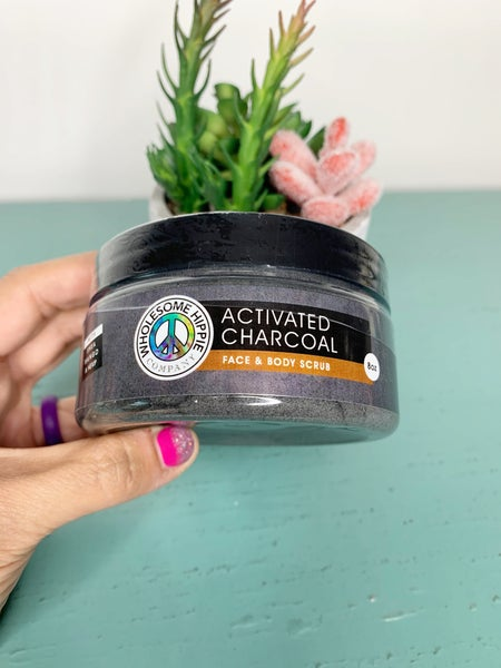 8oz WH Activated Charcoal Scrub