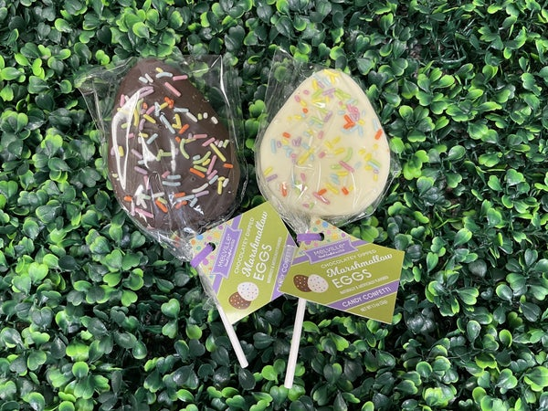 Coated Marshmallow Easter Egg with Spring Sprinkles