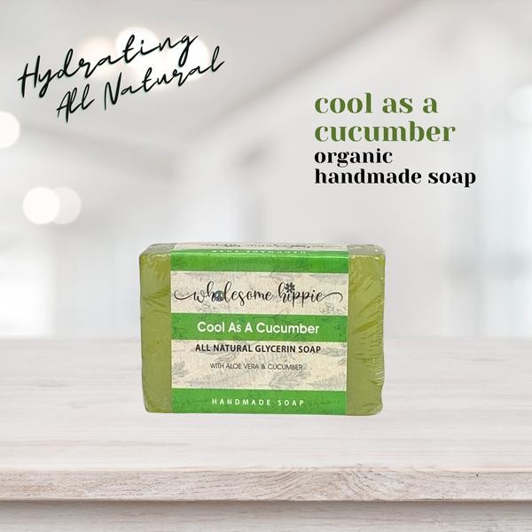 6.6 oz Cool As A Cucumber Handmade Soap