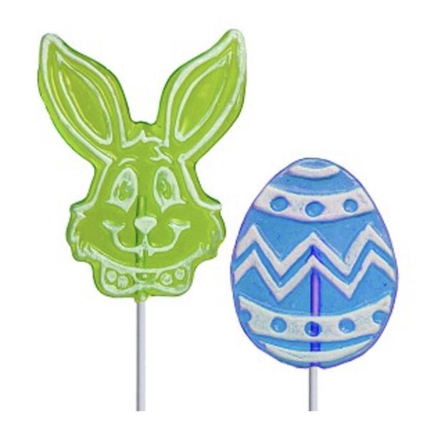 Assorted Bunny & Egg Lollipops