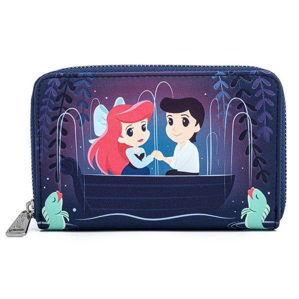 LOUNGEFLY X DISNEY THE LITTLE MERMAID GONDOLA SCENE ZIP AROUND WALLET
