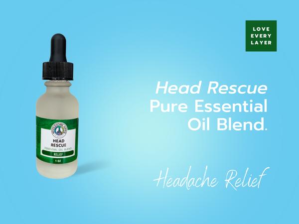 Head Rescue Essential Oil Blend - Relief - Peaceful Peppermint