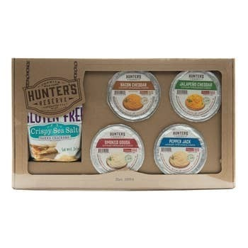 Gourmet Cheese Gift Box - Four Cheese Spreads with Crackers