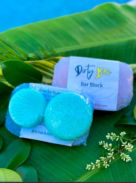 Dirty Bee Shampoo & Conditioner Bar Set with Bar Block | Warm Flannel