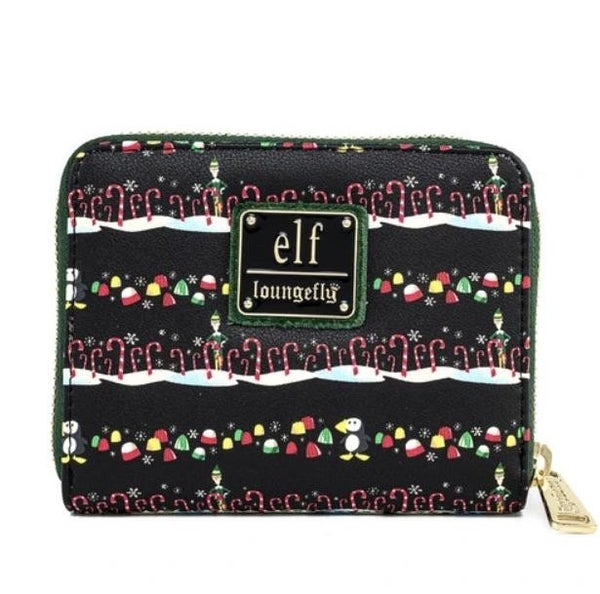 !LOUNGEFLY X ELF CANDY CANE FORREST WALLET