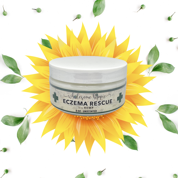 8oz Eczema Rescue + Hemp Herbal Creme - Unscented