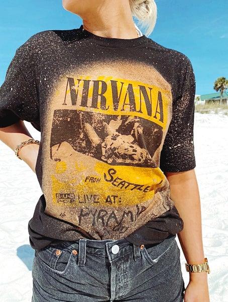Nirvana Bleached Graphic Tee