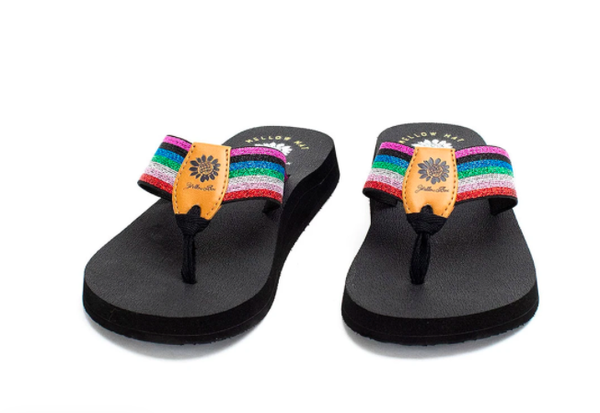 Yellow Box Febe -  Purple Multi Flip Flop