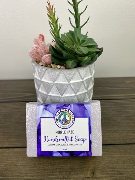 Wholesome Hippie 6.6 oz Purple Haze Triple Butter Soap