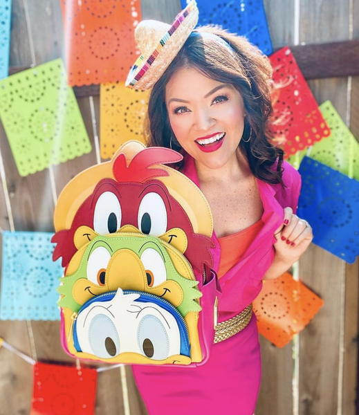 !LOUNGEFLY X THREE CABALLEROS BACKPACK